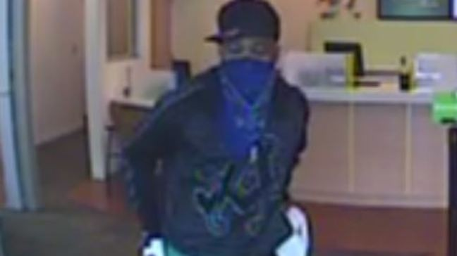 Reward offered in search for bank robber accused of pistol